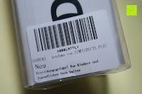 Verpackung hinten: Kendama DANBUKI aus Buchenholz schwarz weiß Original von SIMPLODUCTS PLAY - Design in Deutschland