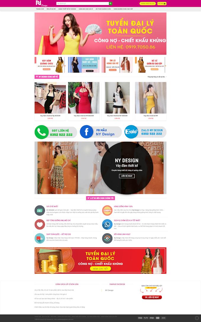 Mẫu website Thời trang giá rẻ