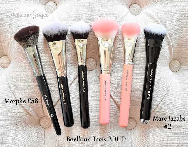Marc Jacobs #2 Angled Curved Brush Review Dupe Bdellium Tools BDHD Morphe Elite II Collection E58
