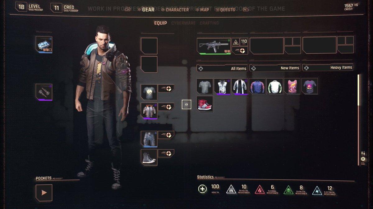 How do I open inventory in Cyberpunk 2077?