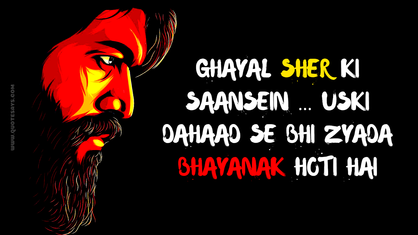 Powerful Kgf Dialogues In Hindi Fire Of Motivation Quote Says
