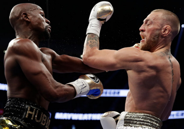 mayweather knocks out mcgregor round 10
