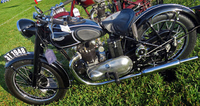 1948 Triumph 3T motorcycle.