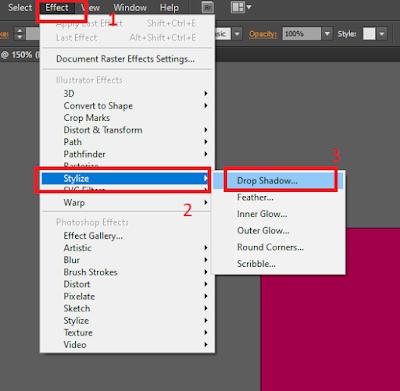 Cara Membuat Drop Shadow Di Adobe Illustrator CS6