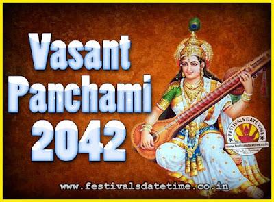 2042 Vasant Panchami Puja Date & Time, 2042 Vasant Panchami Calendar