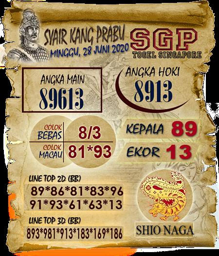 Syair Kang Prabu SGP Minggu