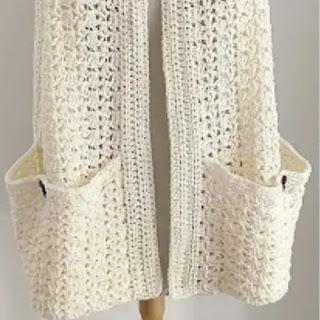 Bufanda con bolsillos a Crochet