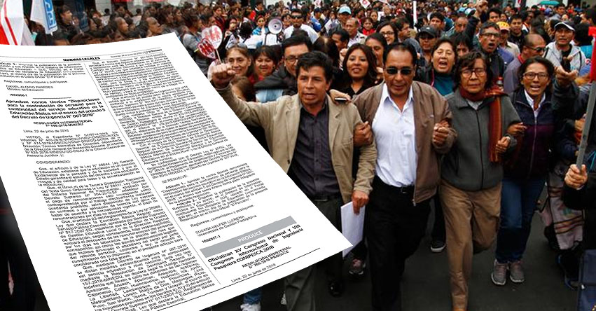 MINEDU aprobó norma legal para contratar a docentes que reemplazarán a huelguistas (R. VM. N° 098-2018-MINEDU) www.minedu.gob.pe