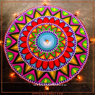 Beautiful Rangoli Design for Diwali 2 Officialdiwali.com