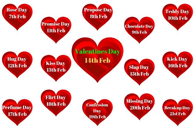 Valentine Week List 2019 Calendar