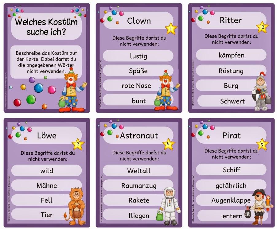 Activity Spiel Begriffe