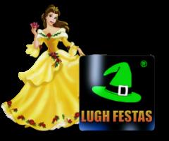 Logo Lugh Festas com a Bella
