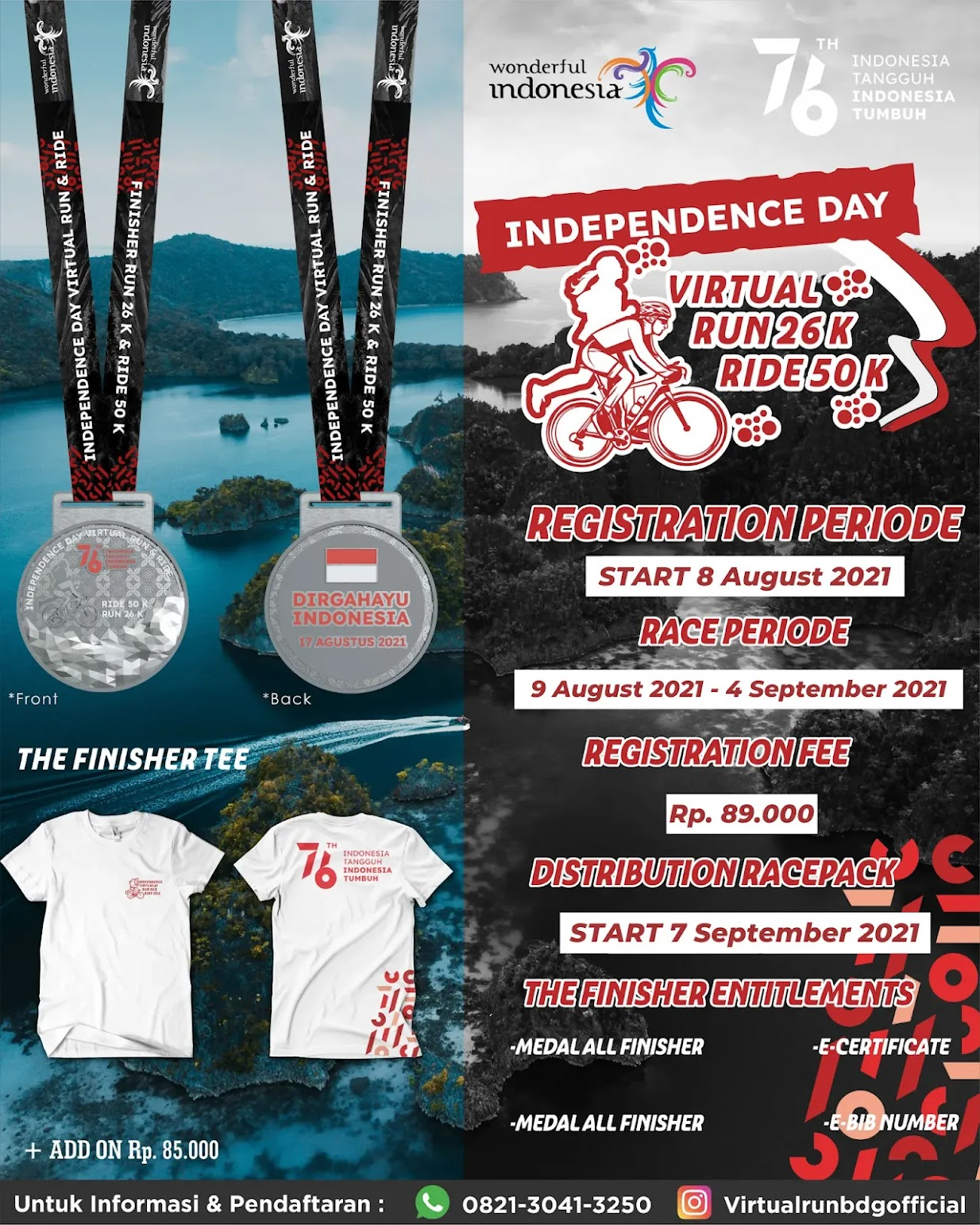 Virtual Run & Ride Indonesia's Independence Day • 2021