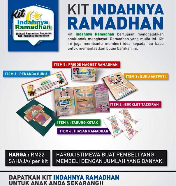 Kit Indahnya Ramadhan , Ramadhan Al Mubarak , Program Ramadhan , Ramadhan 2016 , Harga Kit Indahnya Ramadhan