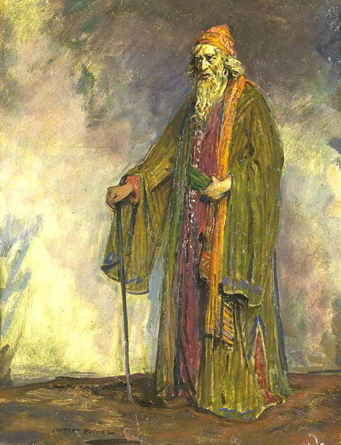 1914. Charles Buchel - English actor Sir Herbert Beerbohm Tree as William Shakespeare's Shylock in The Merchant of Venice