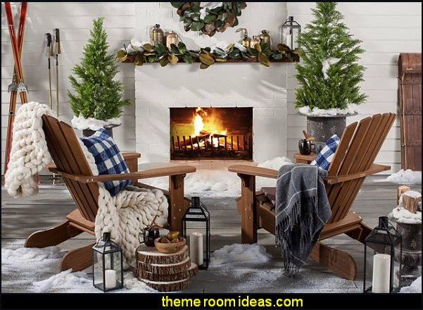 Ski cabin decorating - ski lodge decor - winter cabin decorating ski resort bedroom ideas - winter wall murals - ski chalet theme bedroom decorating ideas - modern rustic style winter cabin decor - Swiss alps decoration Alpine theme decorating - adventure bedroom design ideas - ski alps wall decal stickers - Swiss chalet mountain ski lodge murals weather themed bedroom decorating