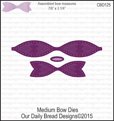 Our Daily Bread Designs Custom Dies: Medium Bow