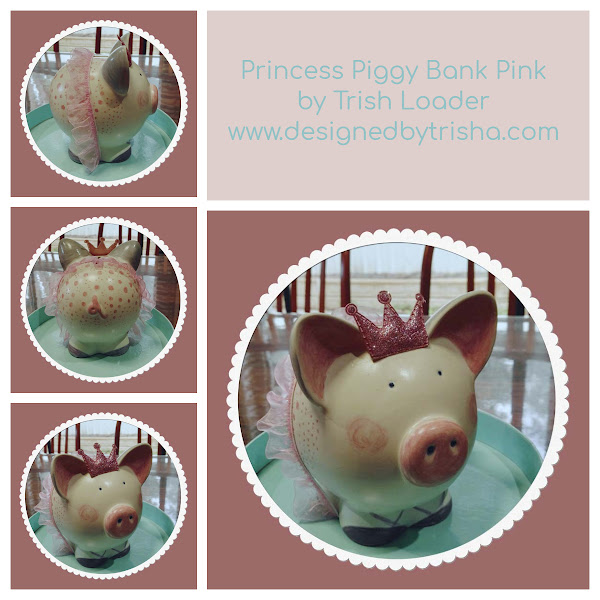 This little piggy - hand painted one-of-a-kind piggy banks