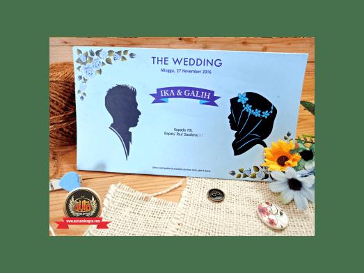 Undangan Pernikahan dengan Ilustrasi Kartun