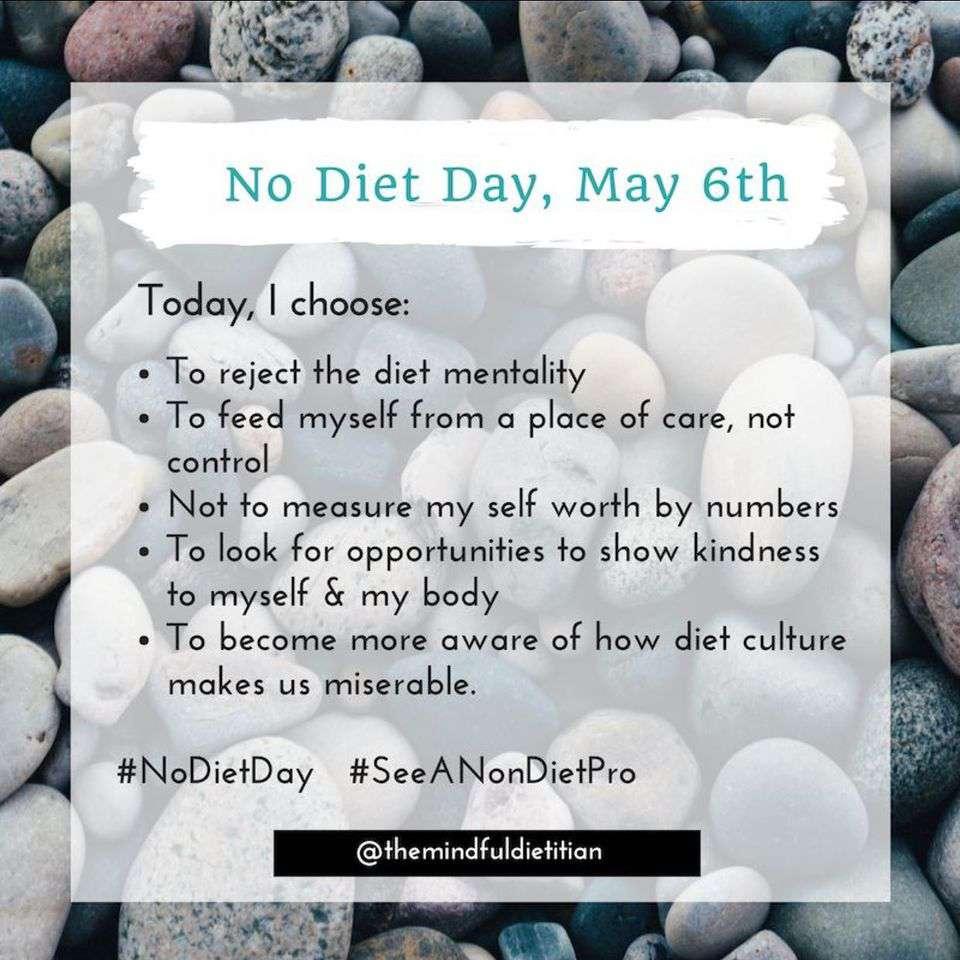 International No Diet Day Wishes for Instagram