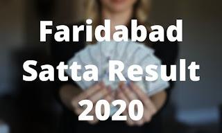 Satta King Faridabad Satta Result 2020