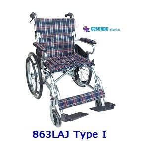 Kursi Roda Alumunium 863LAJ Tipe I