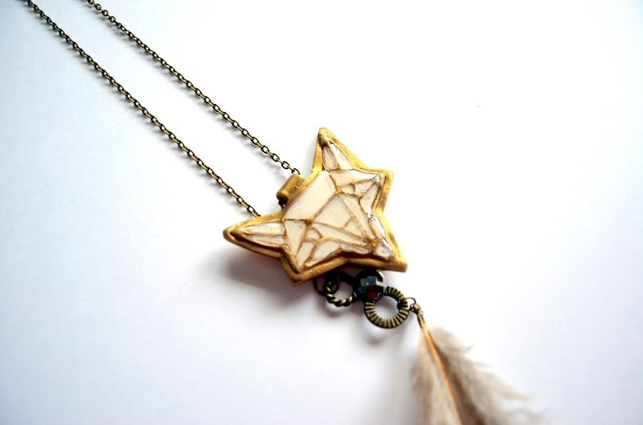 Colgante zorro geométrico