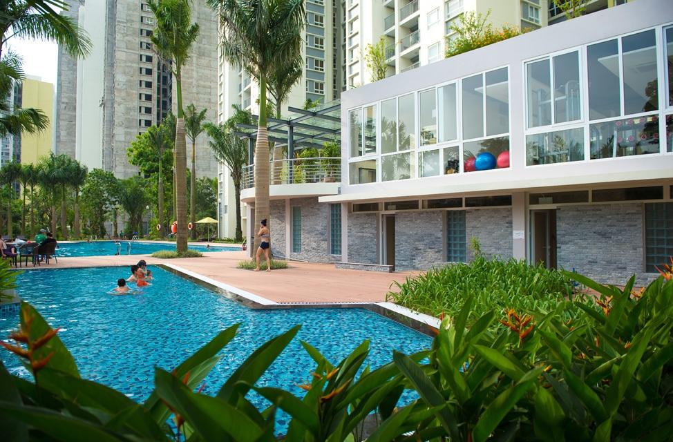 Bể bơi ngoài trời tại ICID Complex