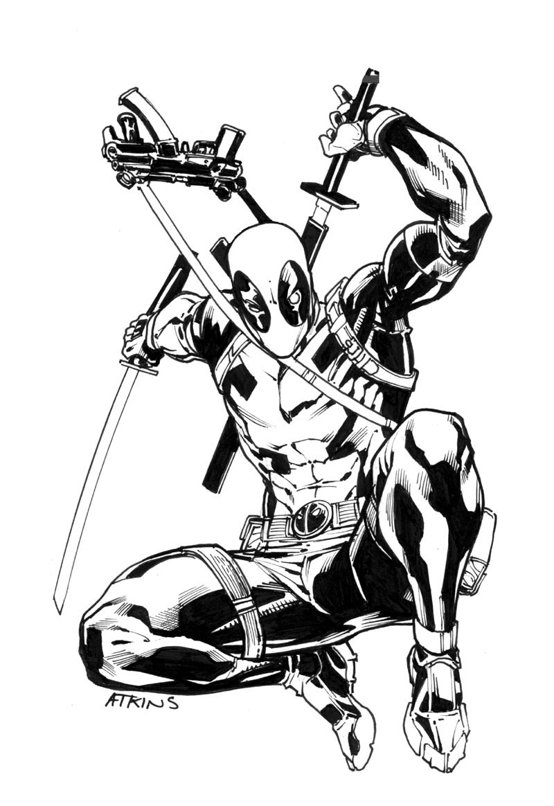 PLANET-PULP // CELEBRATING PULP CULTURE: DeadpoolDeadpool Sketch