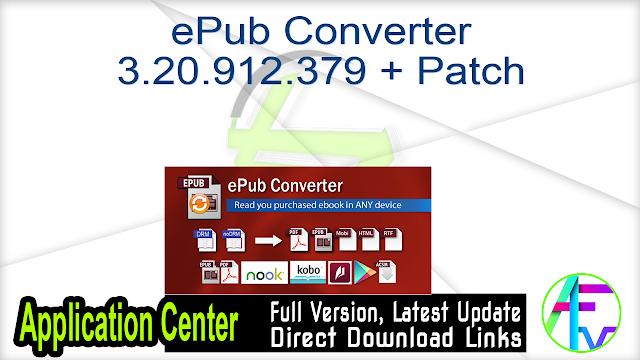 ePub Converter 3.20.912.379 + Patch