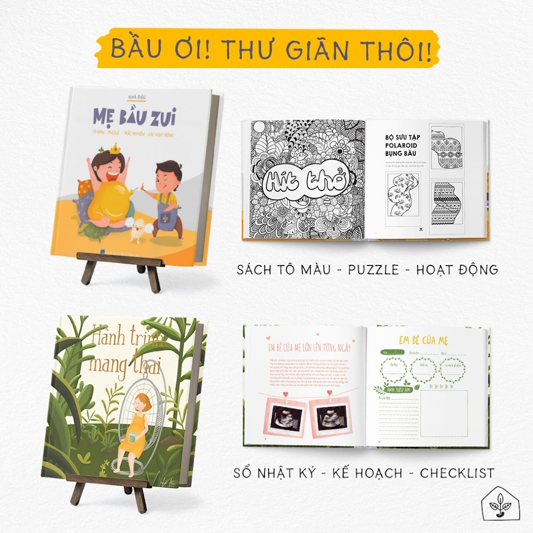 [A116] Mẹ Bầu thư giãn với combo sách thai giáo bán chạy nhất