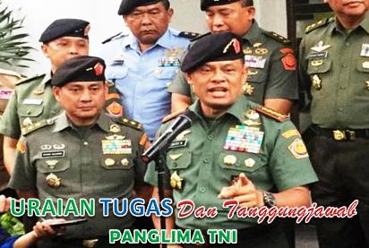 Tugas Dan Tanggungjawab Panglima TNI