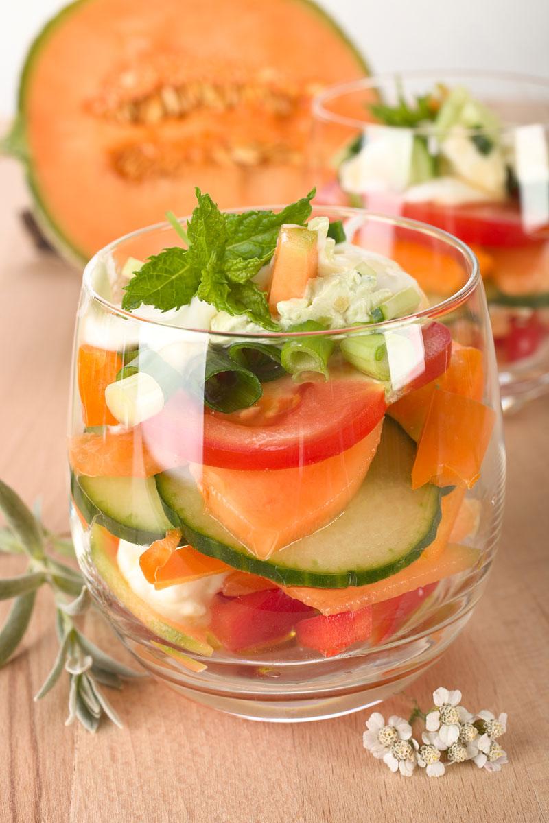 Rezept für einen leckeren Salat im Glas. Edyta Guhl.