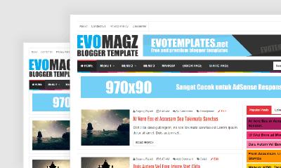 EvoMagz V.4.8 Blogger Template 100% Responsive