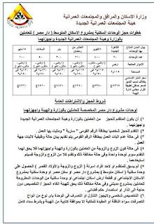 اسعار شقق دار مصر الجديدة للعاملين بوزارة الاسكان وهيئة تنمية المجتمعات العمرانية