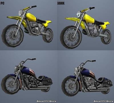gta vc mod hd xbox cars pc comparison