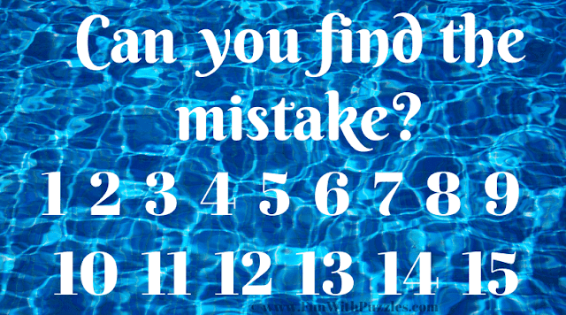 Can you find the mistake 1 2 3 4 5 6 7 8 9 10 11 12 13 14 15