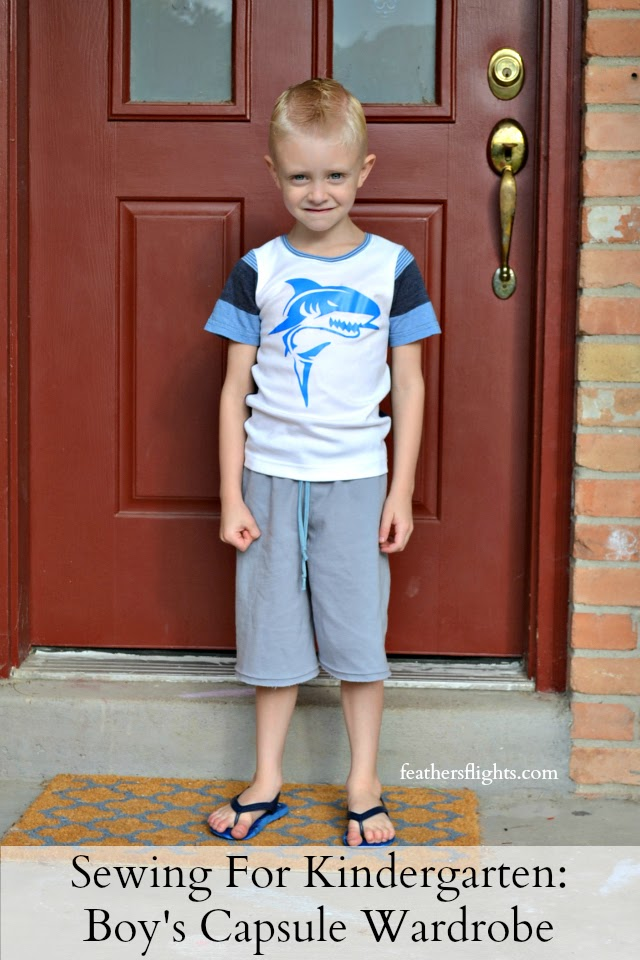 Sewing for Kindergarten: A Boy's Capsule Wardrobe