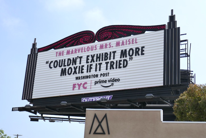 Mrs Maisel season 3 Emmy FYC marquee billboard
