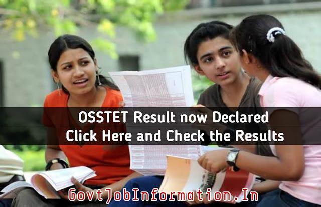 Odisha Teacher Eligibility (OSSTET) 2019-20 - Result Link