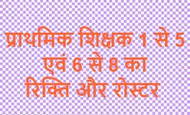 Updated on 30-09-2019 1:20 PM    District wise Vacancy &  Roster of Bihar Primary & Middle School (1to5 & 6to8) Teachers Recruitment 2019