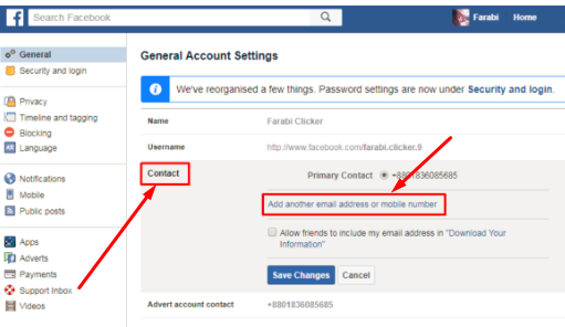 How To Remove Telephone Number From Facebook