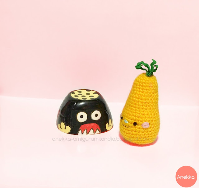 crochet pear and monster