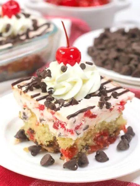 Cherry Garcia Sheet Cake Recipe