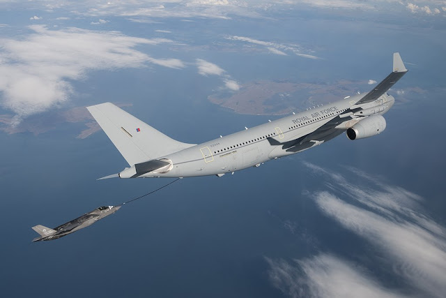 RAF Voyager begins refueling test F-35