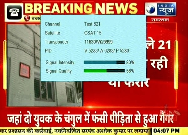 India News Hindi Returned on Channel number 80