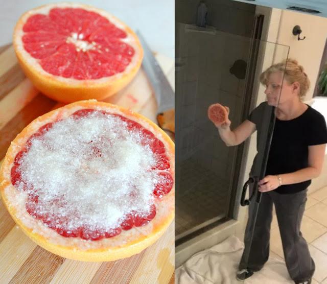 Le pamplemousse et le sel pour nettoyer la maison facilement