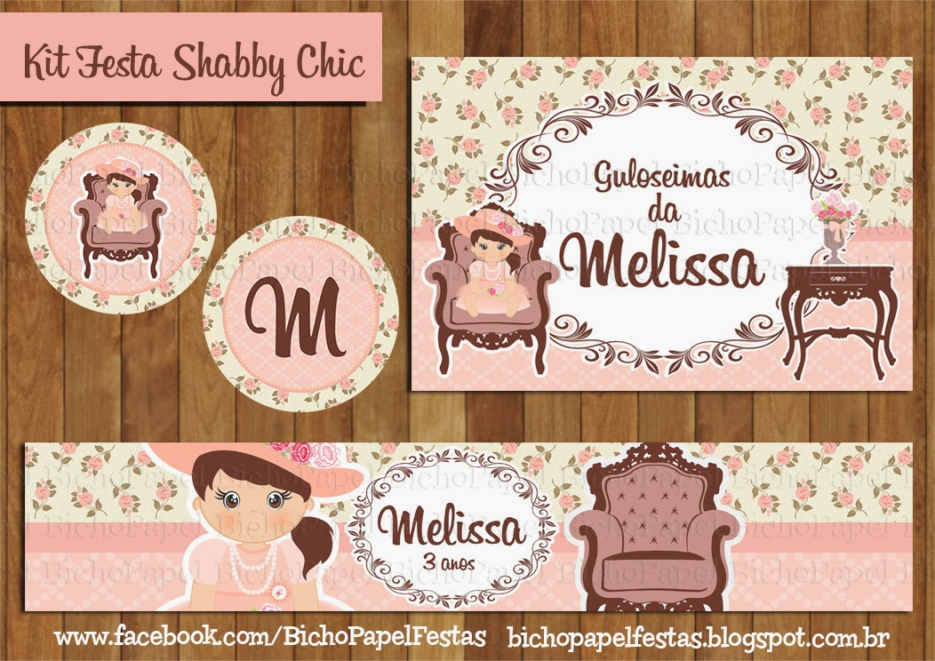 Kit Festa Shabby Chic