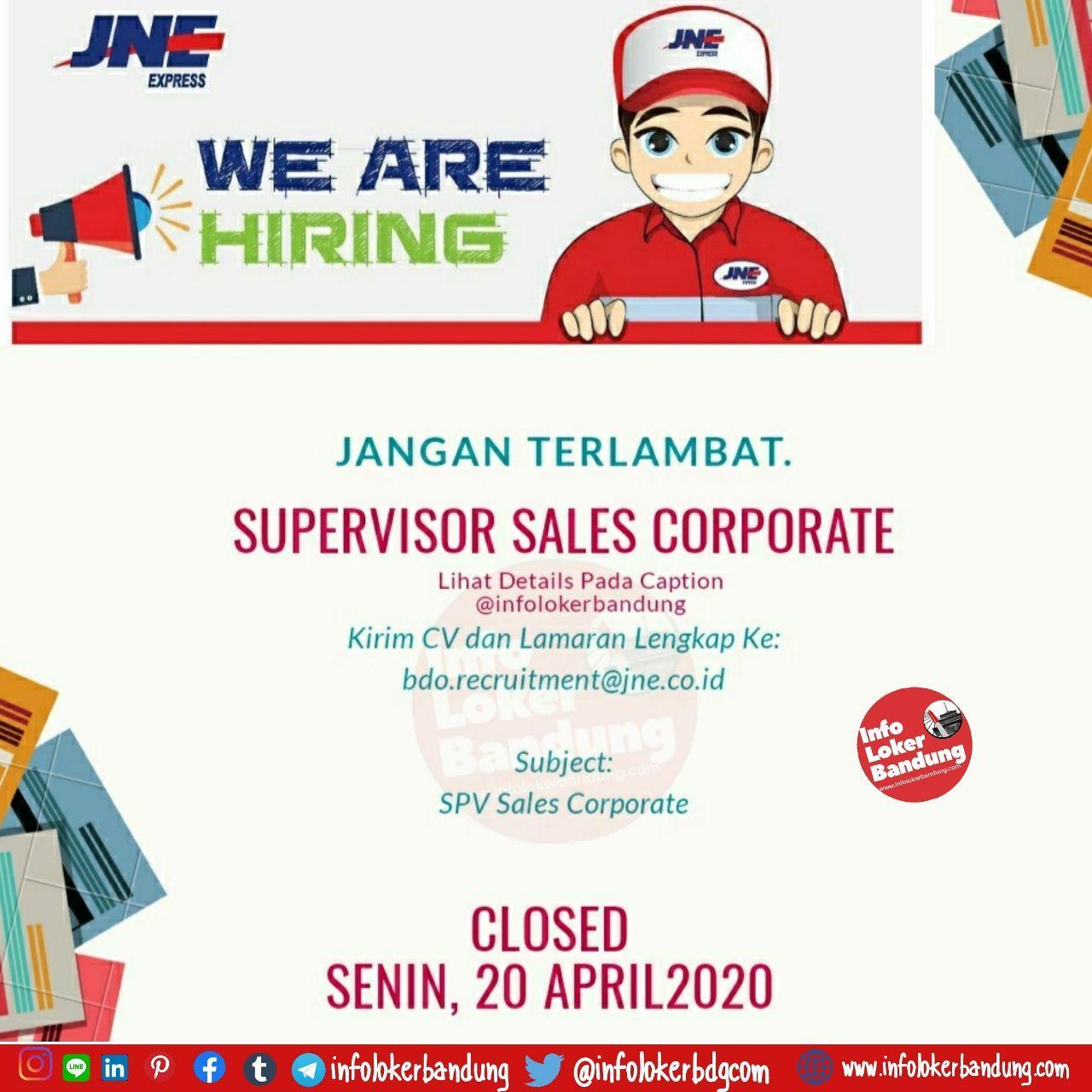 Lowongan Kerja JNE Bandung April 2020
