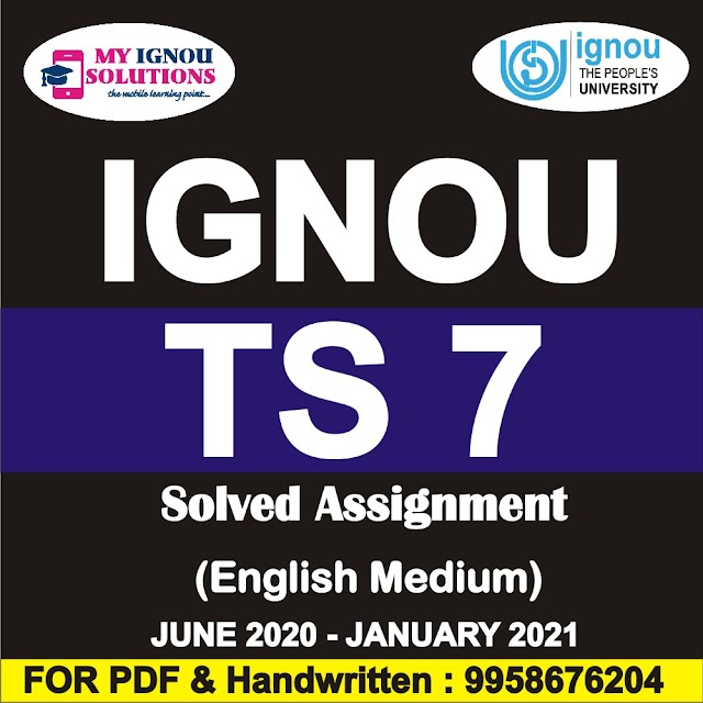 TS 7 Solved Assignment 2020-21